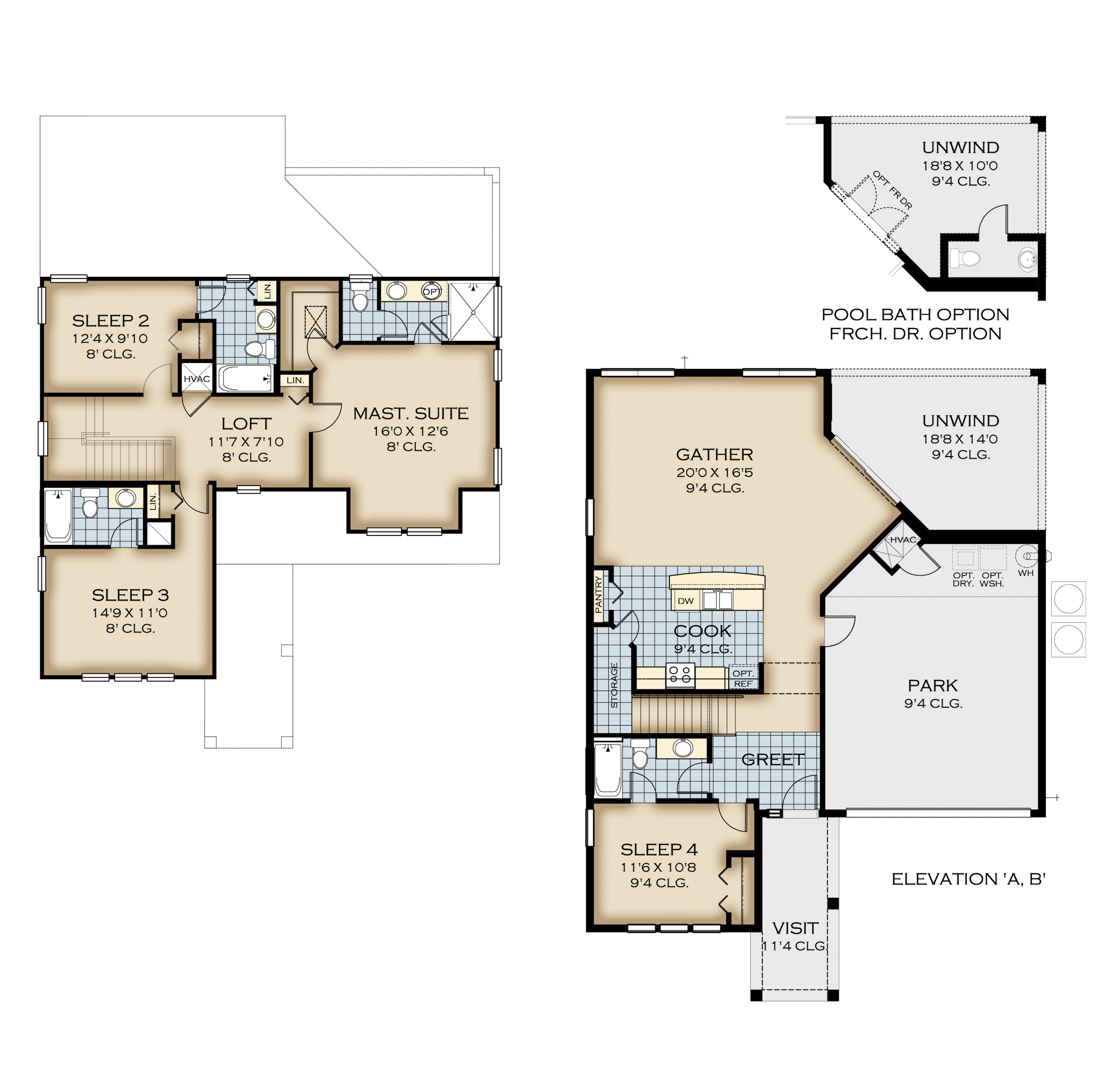 Naples 42 Floor Plan W