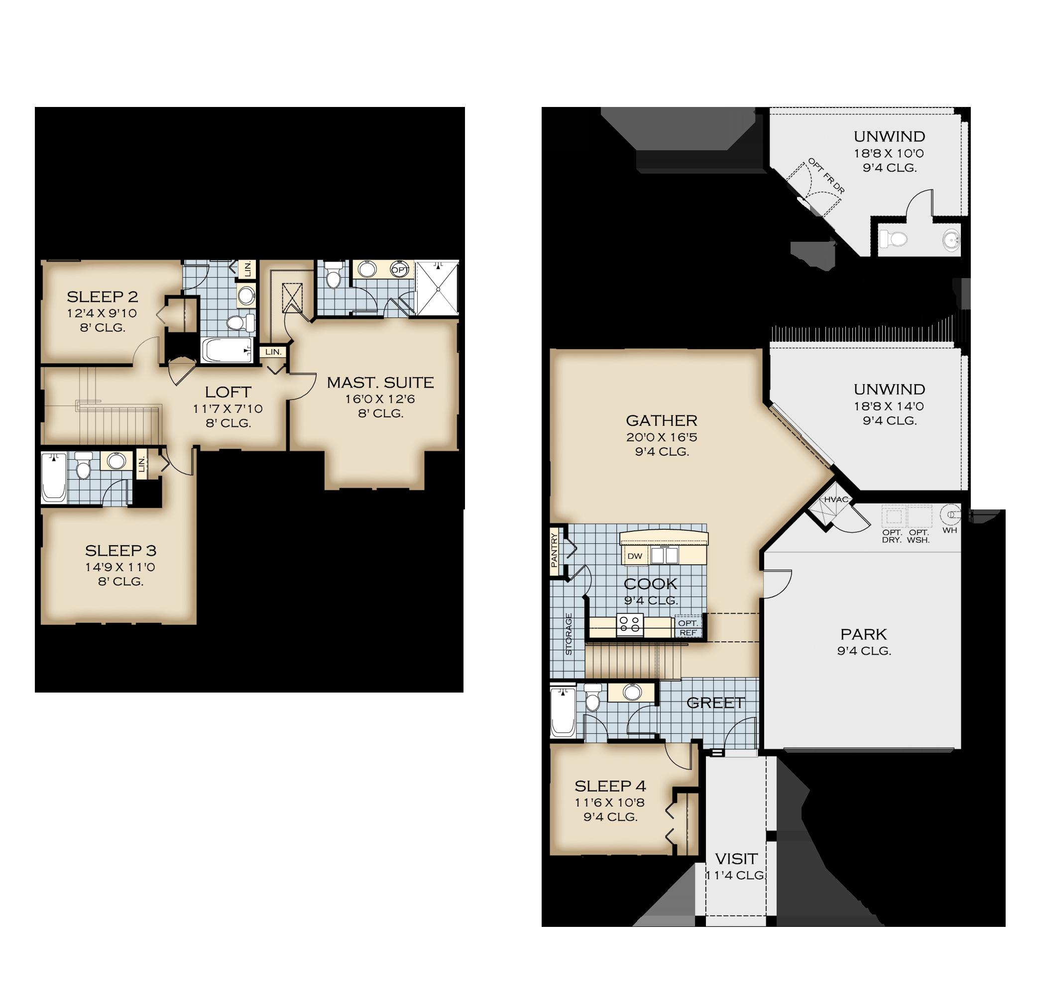 Naples 42 Floor Plan W